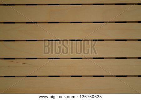 Wood blinds made of light wood - closeup pattern