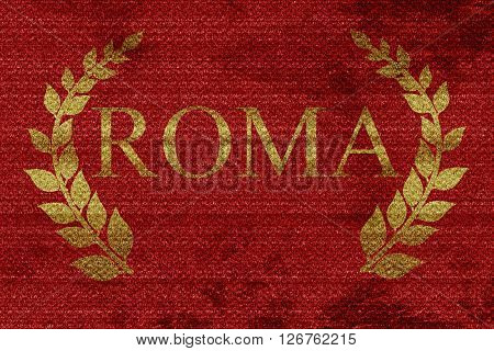 roma with laurel wreath and some soft smooth lines