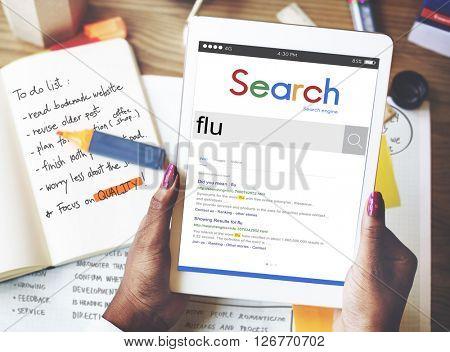Flu Cold Medical Medicine Sick Virus Disease Concept