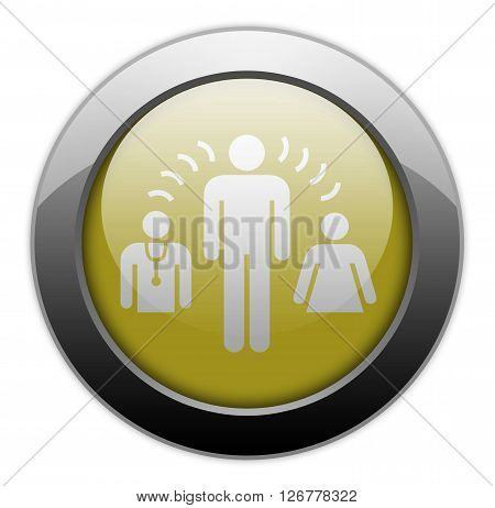 Icon Button Pictogram with Interpreter Services symbol