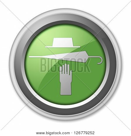 Icon Button Pictogram with Lost and Found symbol