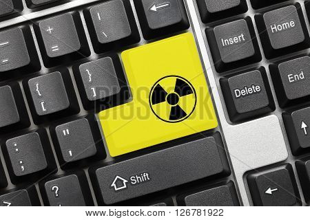 Conceptual Keyboard - Yellow Key With Radiation Symbol