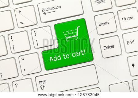 White Conceptual Keyboard - Add To Cart (green Key)