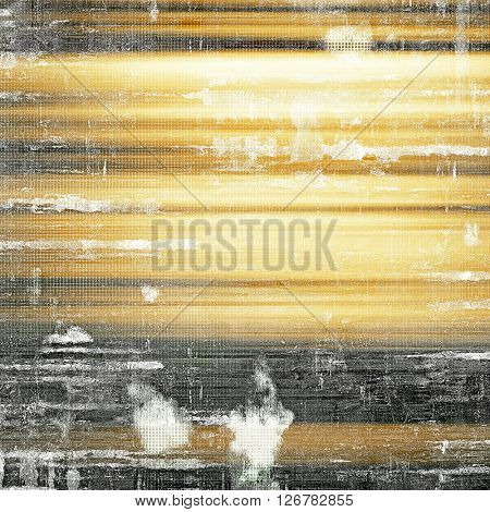 Old school elements on textured grunge background. With different color patterns: yellow (beige); brown; gray; black; white