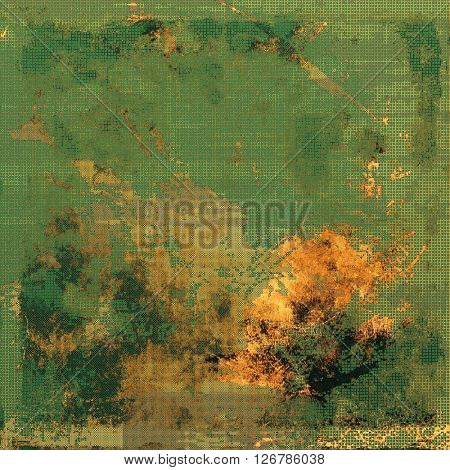 Old crumpled grunge background or ancient texture. With different color patterns: yellow (beige); brown; green; gray
