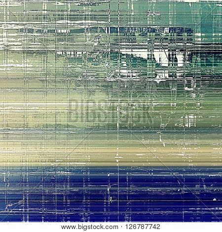 Oldest vintage background in grunge style. Ancient texture with different color patterns: yellow (beige); brown; green; blue; gray; white