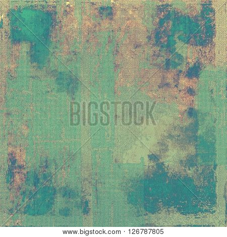 Old style design, textured grunge background with different color patterns: yellow (beige); brown; green; blue; gray; cyan