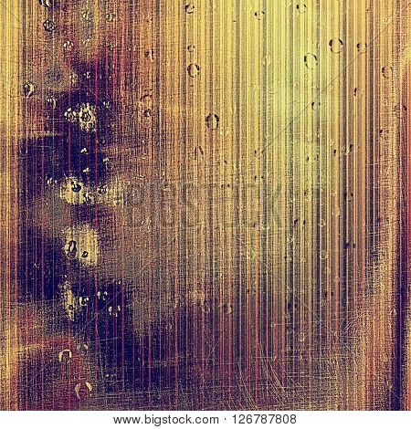 Aged grunge graphic background with shabby texture in vintage style. With different color patterns: yellow (beige); brown; red (orange); gray; purple (violet); pink