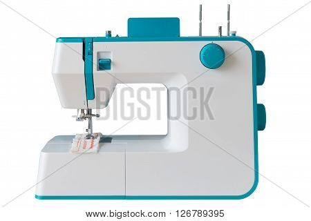sewing machine isolated on a white background
