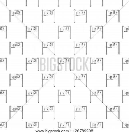 Finish pattern seamless black for any design