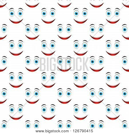 Smile pattern seamless black for any design
