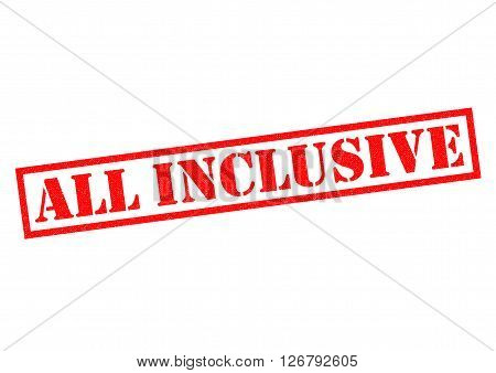 ALL INCLUSIVE red Rubber Stamp over a white background.