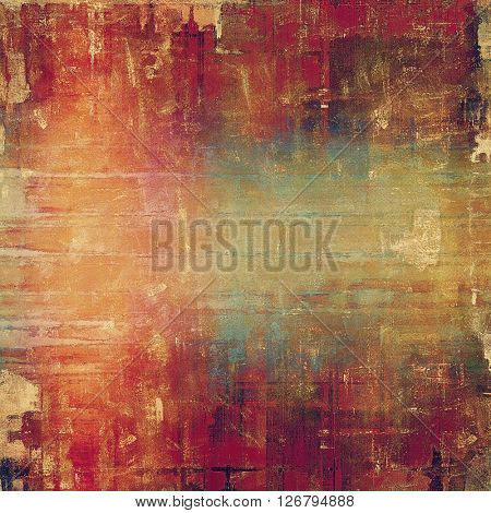 Abstract grunge weathered background of vintage texture. With different color patterns: yellow (beige); brown; blue; red (orange); purple (violet)