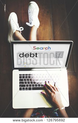 Debt Banking Money Mortgage Payment Trouble Concept