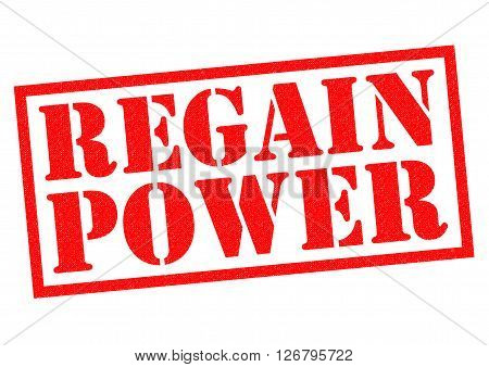 REGAIN POWER red Rubber Stamp over a white background.