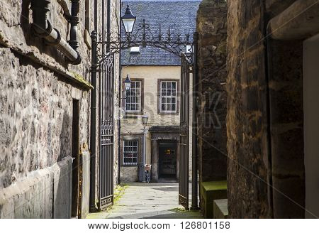 EDINBURGH SCOTLAND - MARCH 10TH 2016: A view of Tweeddale House located in Tweeddale Court in Edinburgh on 10th March 2016.