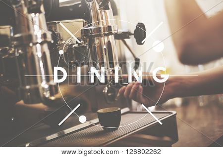 Dining Eating Drinking Food and Beverage Concept