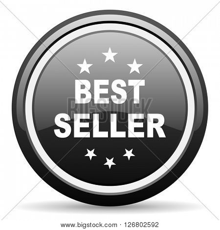 best seller black circle glossy web icon