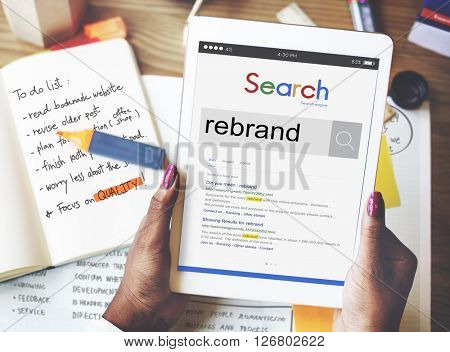 Rebrand Strategy Marketing Image Corporate Brand Concept
