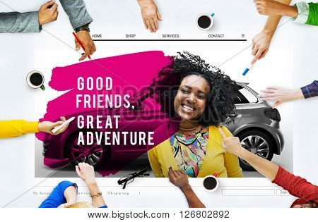 Good Friend Great Adventure Partner Relation Concept