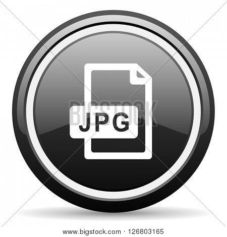 jpg file black circle glossy web icon