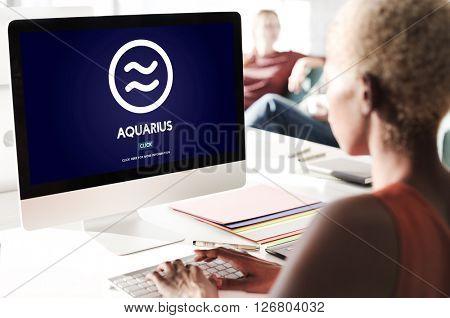 Aquarius Astrology Horoscope Zodiac Concept
