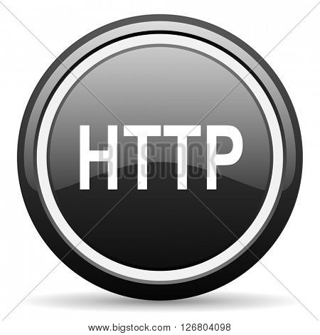 http black circle glossy web icon