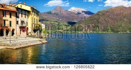 Lago di Como (Lake Como) Rezzonico and landscape
