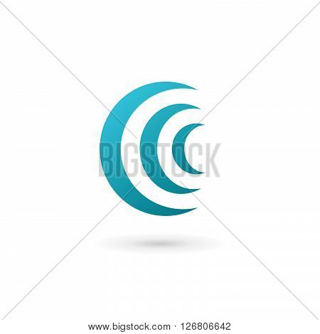 Letter C Wireless Logo Icon Design Template Elements