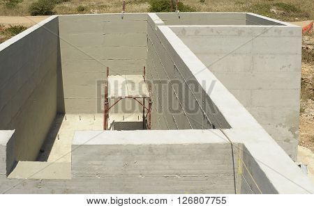construction of reinforced concrete tub for treatment and purification of waste water
