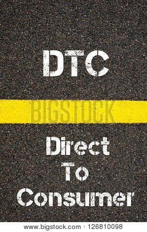 Business Acronym Dtc Direct To Consumer