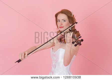 portrait of a woman with a viola