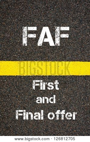 Business Acronym Faf First And Final Offer
