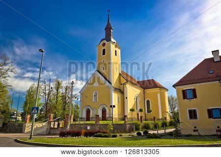 Town of Ivanec church view Zagorje region of Croatia