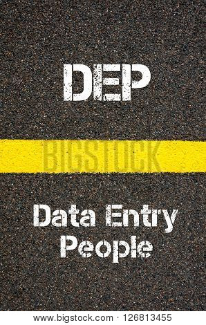 Business Acronym Dep Data Entry People