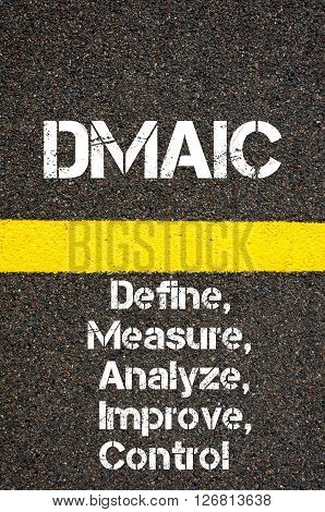 Business Acronym Dmaic Define, Measure, Analyze, Improve, And Control