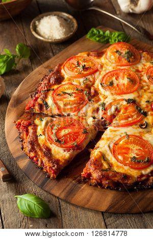 Homemade Vegan Cauliflower Crust Pizza