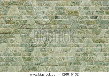 pattern color of modern style design decorative red slate stone wall surface with cement in trapezoid shape