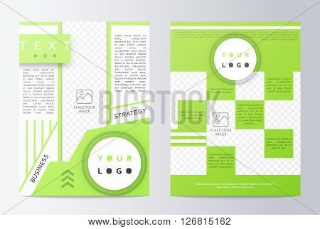Business brochure. Brochure Flyer design. Mockup front page and back page. Brochure Layout template. Easy to use and edit. Fresh design . Business paper