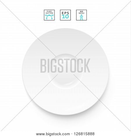 Cutlery items realistic. Plate isolation on a white background . Cutlery object realistic