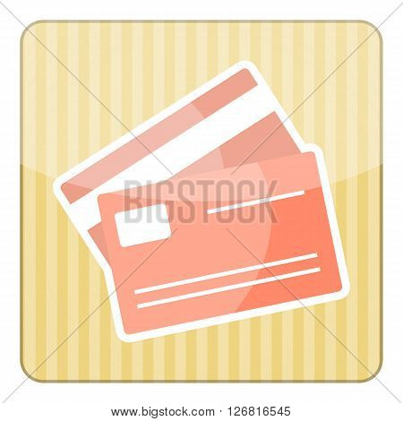 Credit card colorful icon. Credit card vector illustration