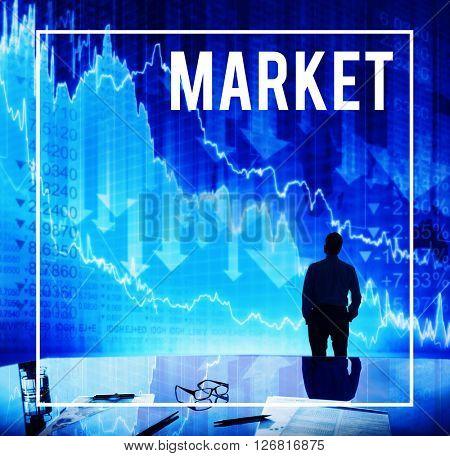 Market Marketing Staff Stockholder Shares Concept
