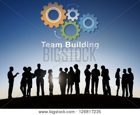 Team Building Busines Collaboration Development Concept