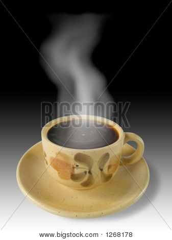 Cup Of Coffee And Steam