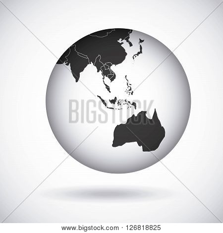 oceania continent  design, vector illustration eps10 graphic