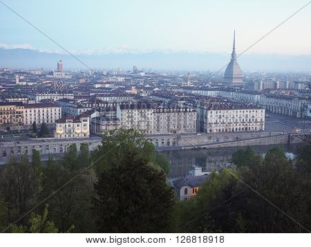 Turin Skyline In The Morning