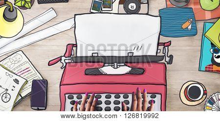 Typewriter Message Machine Retro Keyboard Concept