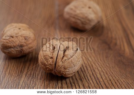 The Walnuts on the tree and on wood