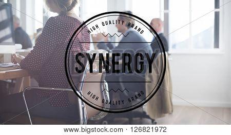 Synergy Teamwork Team Collaboration Concept