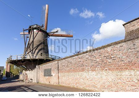 Kriemhilds mill, Historic windmill at the city wall of Xanten